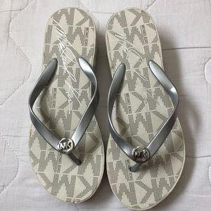 Michael Kors wedge flip flops 8